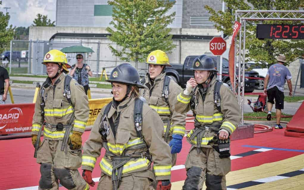 Madison Lavigne from Linwood, along with other Wellesley Township firefighters Clayton Greer, Dave Uberig and Ryan Dosman, placed third at the national Firefit competition in Calgary earlier this month.