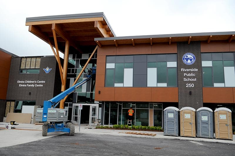 Students and staff will be starting the 2016-2017 school year at the new Riverside Public School building in the Lunor subdivision on Church Street West.[Liz Bevan / The Observer]