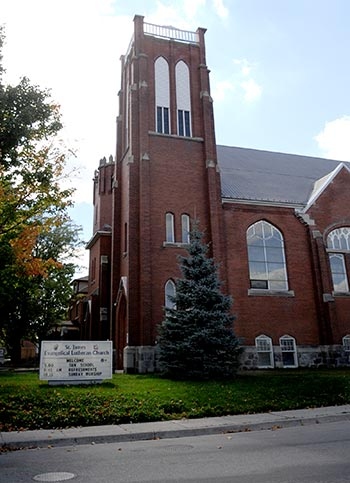 Elmira's St. James Evangelical Lutheran Church recently underwent renovations, including removing a large bee hive, which was located in one of the towers and has since been located to a nearby farm. This is just part of the church's revitalization efforts, which also includes opening the church to community events and concerts.