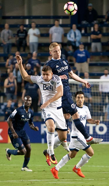 Elmira was represented in Major League Soccer as Tyler Pasher made his debut with the Sporting Kansas City team earlier this month. The team lost 2-1, but Pasher said it was a great opportunity to test his skills at that level. [Nick Smith/Sporting Kansas City]