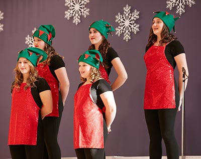 Marilena Mohan and Rebecca Perry have been in the Sounds of Christmas show since it began four years ago. They will be taking the stage again this weekend in Waterloo.[Submitted]