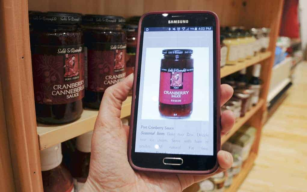 Martin Lewis Confectionery in Elmira recently added online shopping just in time for the holidays, in addition to their downtown storefront. Canadian consumers are increasingly shopping online, as well as on their smart phones.[Whitney Neilson / The Observer]