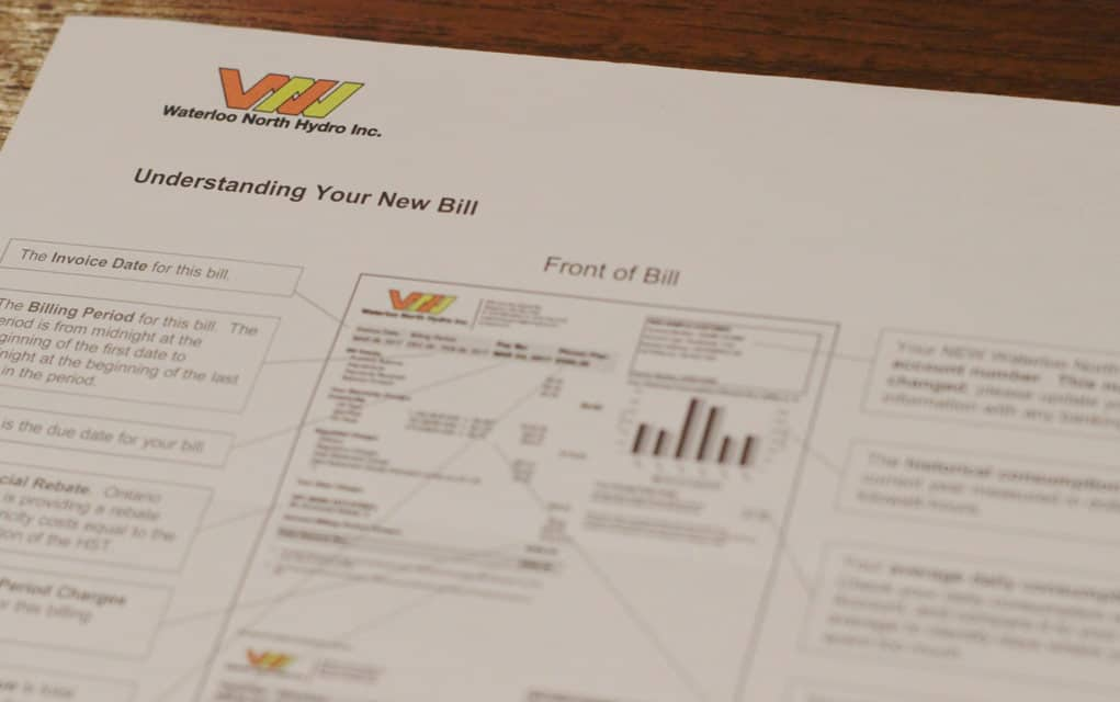 Waterloo North Hydro completes transition to mandated monthly billing