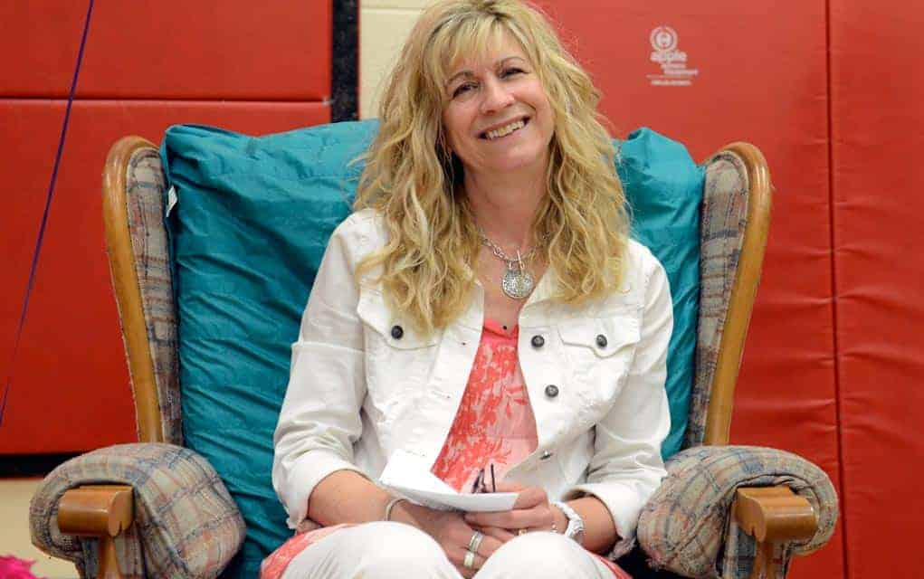 Staff, students and parents have a send-off for Jane Weber, who spent two decades at the school
