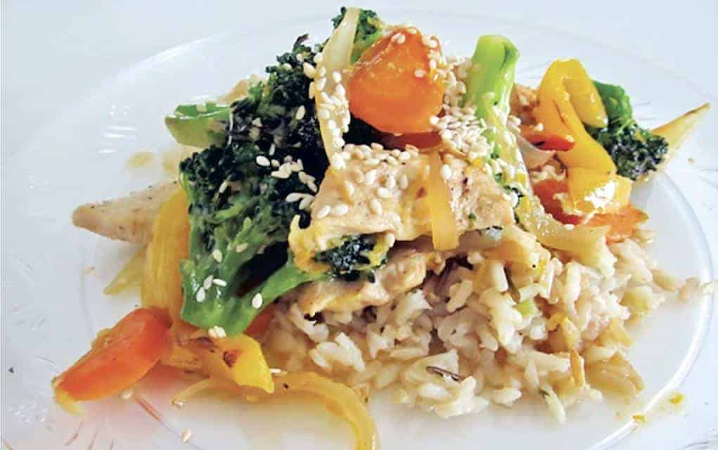 Orange chicken stir fry, an ideal dish to call a favourite, as it offers up citrus and a nice mix of vegetables