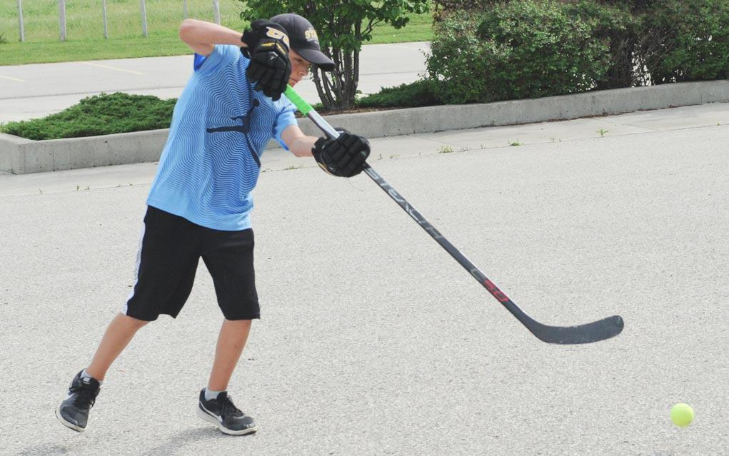 Participants in Road Hockey Challenge at Crosshill Mennonite Church will rub elbows with the pros