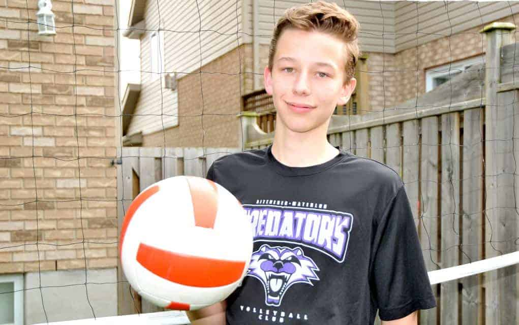 Judah Verbeek has a busy summer ahead of him as a member of the Ontario Volleyball Association's under-16 team