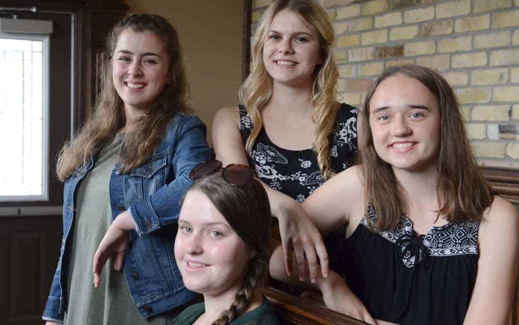 Four local girls are candidates for the title of ambassador at the 2017 Wellesley Township Fall Fair. A winner will be chosen on September 12, the opening day of the fair.