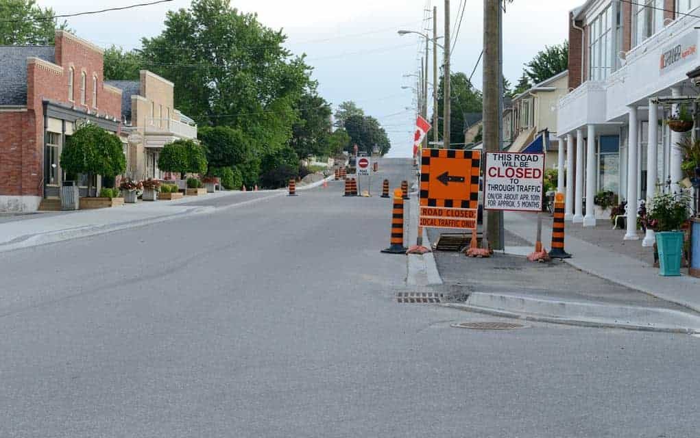 St. Jacobs road construction finally nearing completion