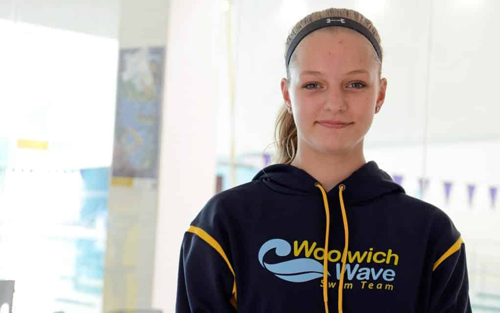 Taylor Girling has advanced steadily since taking up competitive swimming just three years ago