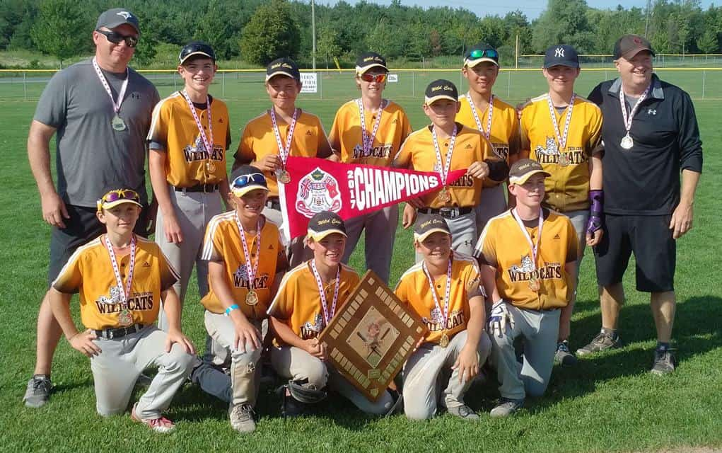 The Twin Centre U14 Wildcats won the Ontario Amateur Softball Association peewee C provincial championship last weekend in Stouffville.