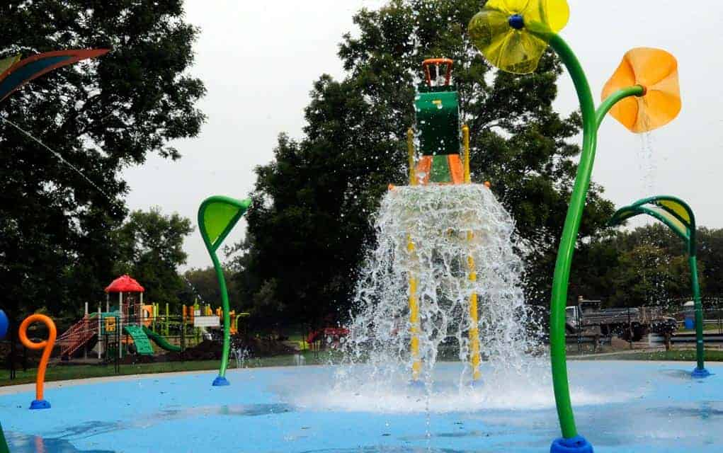 The Elmira splash pad was being put through its paces Tuesday morning as workers tested the jets. With any luck, the pad could see some use before the weather turns anymore fall-like.