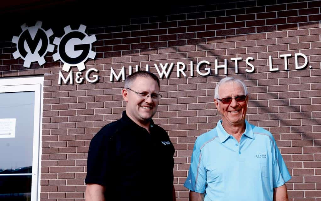 Matt Kraemer (left) will be taking over M&G Millwrights Ltd. from retiring co-founder Cliff Gingrich as the business celebrates half a century in Elmira.