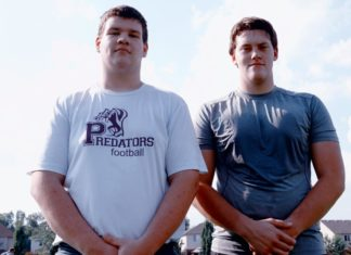 Elmira senior football players Nicholas Loughran and Jacob Fulcher are drawing interest from university scouts for their play as the season gets rolling.
