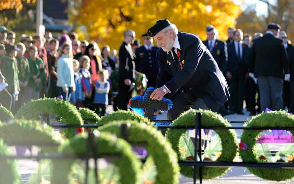 Flyover, cannon salute to mark this year's Remembrance Day in Elmira