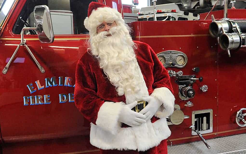 Santa Claus will riding on a fire engine at this Saturday's parade in Elmira. Following that, he will be making appearances throughout the township, including at Wellesley village Dec. 8, and the Santa Claus parade in St. Clements on Dec. 16.