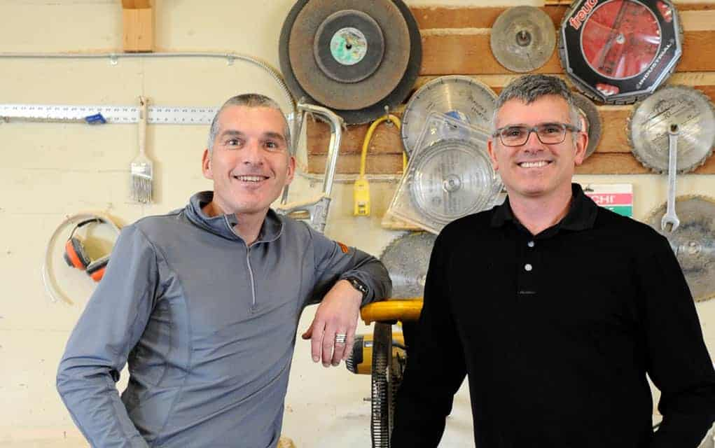 Menno S. Martin Contractor co-owners Art Janzen and Trent Bauman, whose St. Jacobs-based business was nominated this week for the 2018 Employee Engagement Award.