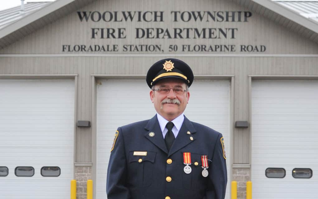 Retiring after 32 years as volunteer firefighter in Floradale, Wally Remers is noted for his willingness to drop everything when his help was needed.
