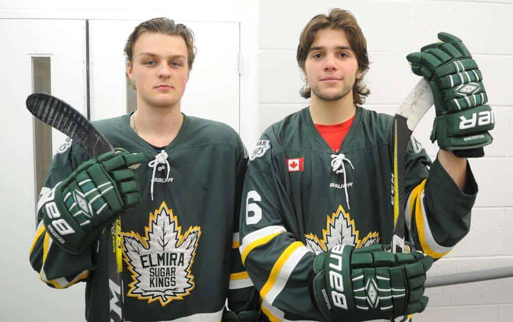 Marcel Berube and Damian Figueira are the newest additions to the Elmira Sugar Kings' roster.