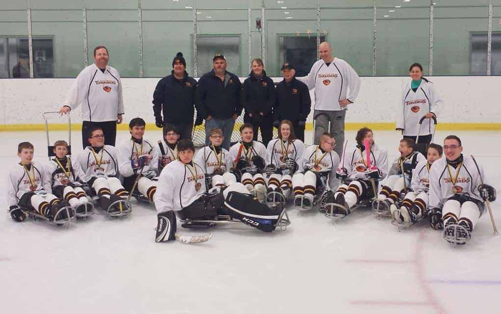 The Woolwich Thrashers were the junior development division champions at the London Blizzard Sledge Hockey Tournament last weekend.