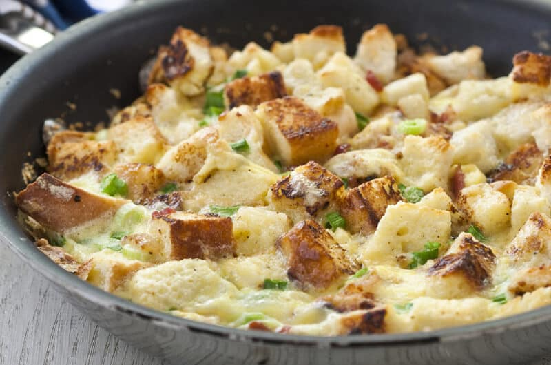 A scaled-down breakfast casserole that's perfect for Valentine's Day