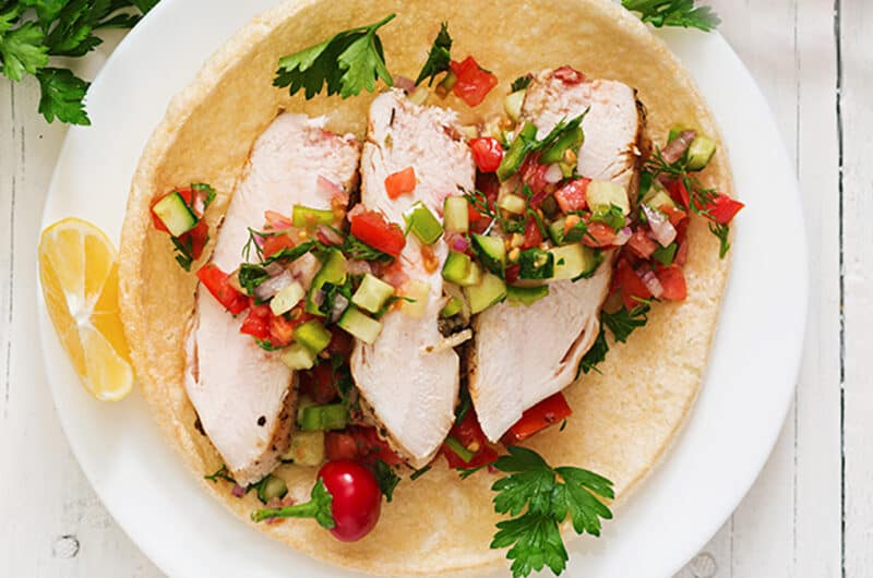Grilled Chicken Breast with Spicy Strawberry Salsa