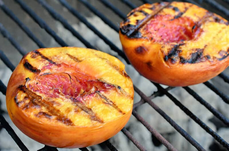 Summer Salmon Salad with Grilled Peaches
